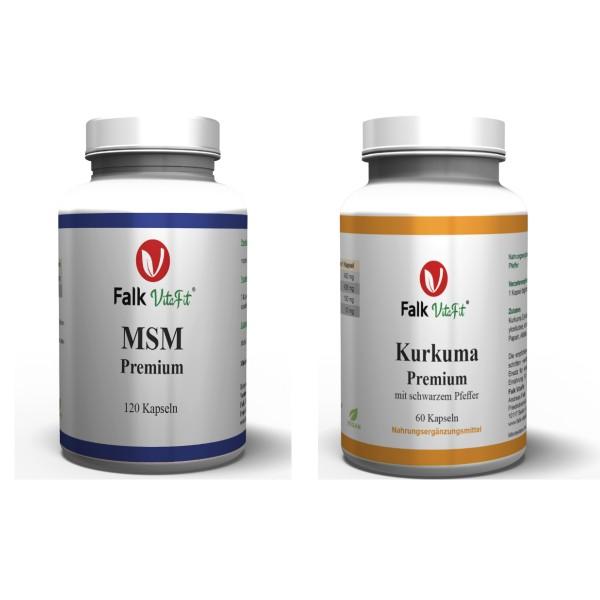 Sparpaket - 1 x Kurkuma Premium + 1 x MSM Premium als Kapseln