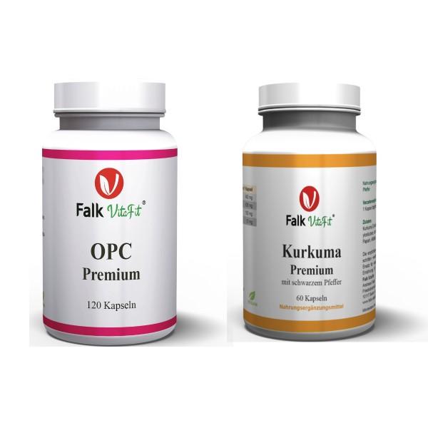 Sparpaket - 1 x Kurkuma Premium + 1 x OPC Premium als Kapseln